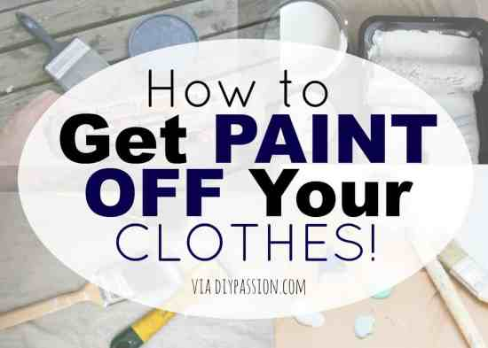 The Best Way to Get Paint Off your Clothes!