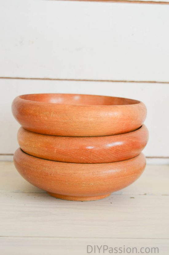 Reclaimed Wood Centrepiece Bowls