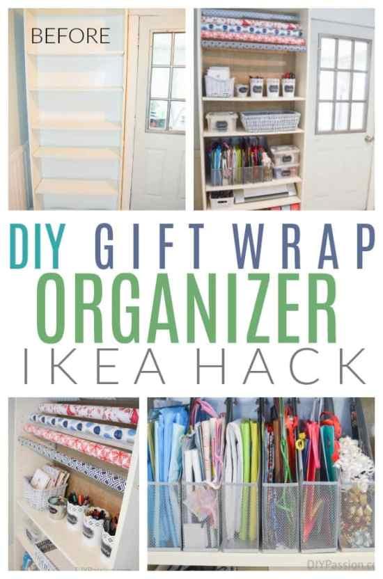 Diy gift wrap organizer ikea hack diy passion diy gift wrap organizer solutioingenieria Choice Image