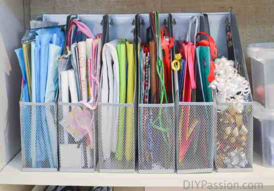 Diy gift wrap organizer ikea hack diy passion how to organize gift bags wrapping paper storage solutioingenieria Choice Image