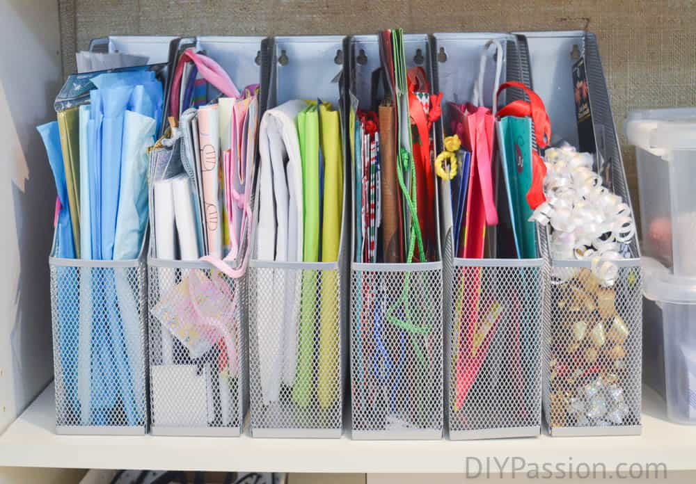 ... how-to-organize-gift-bags-wrapping-paper-storage- & Turn a Small Space into Organized Wrapping Paper Storage! u2013 DIY Passion