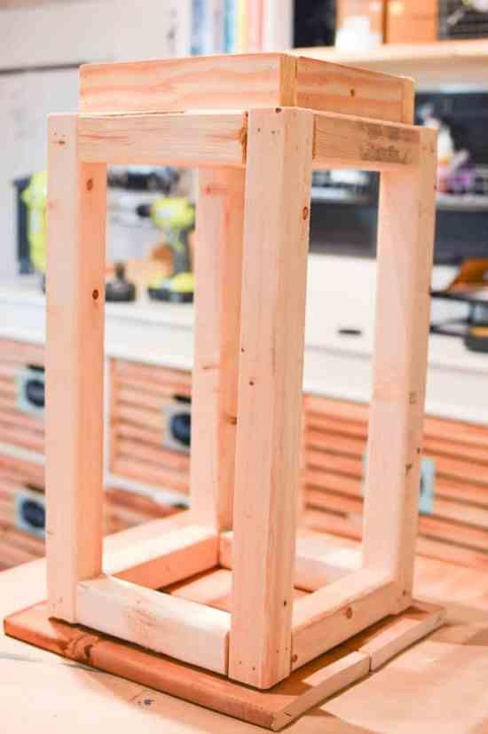 Unfinished Wooden Lantern