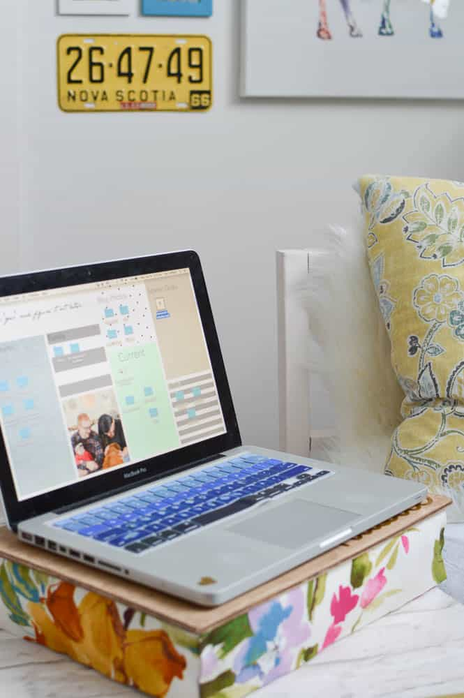 Make Your Own Lap Desk Pillow No Sewing Required Diy