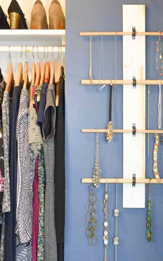 hanging necklace organizer