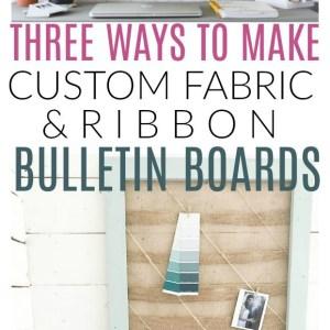 fabric bulletin boards