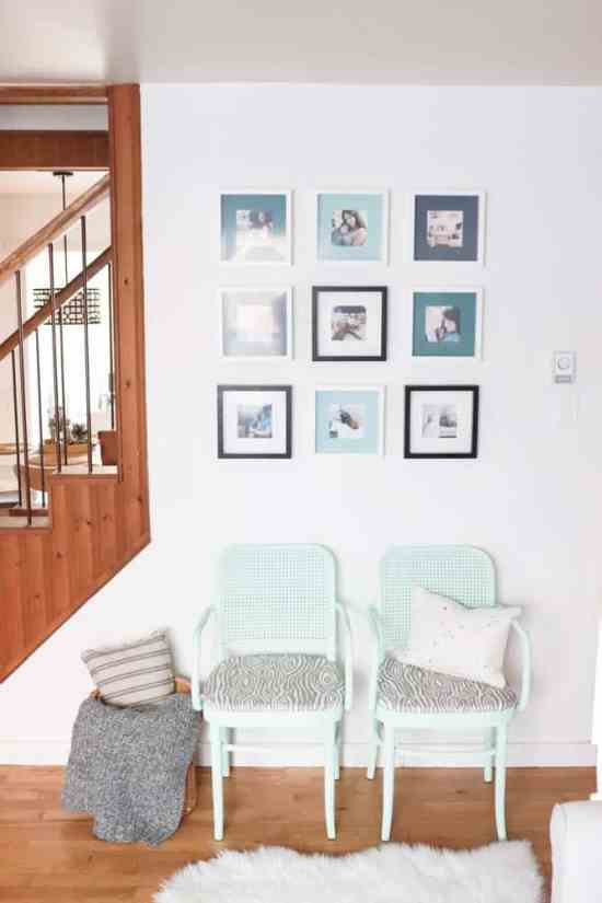 DIY Instagram Photo Wall with DIY Painted Photo Mats