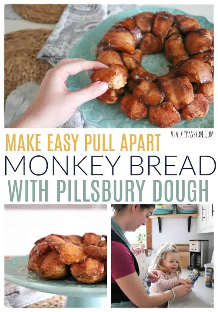 Make Easy Pull Apart Monkey Bread with Pillsbury Dough