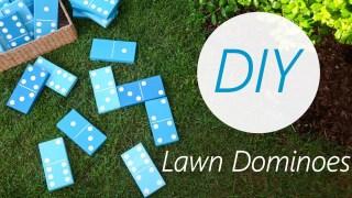 DIY Lawn Dominoes