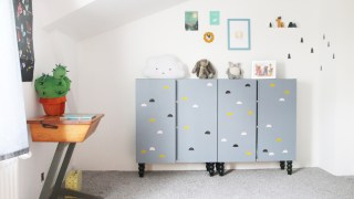 Ikea Ivar Cabinets in the Playroom