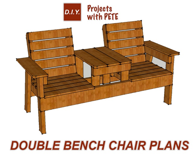 how to build a double chair bench with