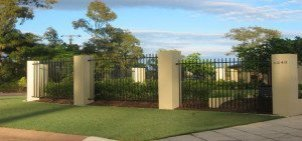 Picket top aluminium front fence