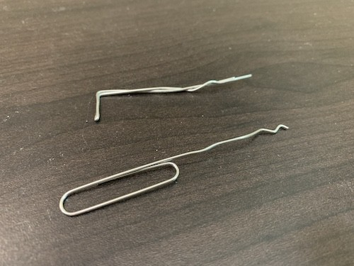 Picking locks with paper clips