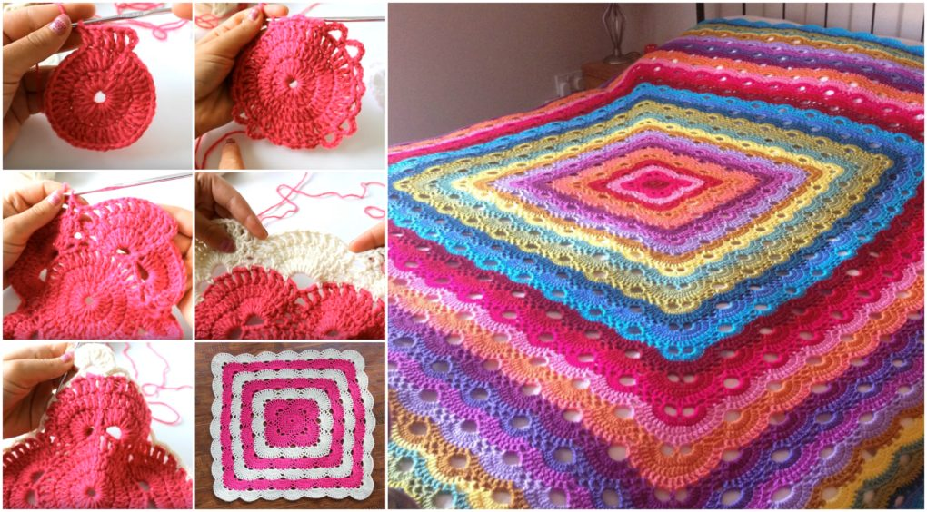 Pattern Video Tutorial Wonderful Virus Crochet Blanket