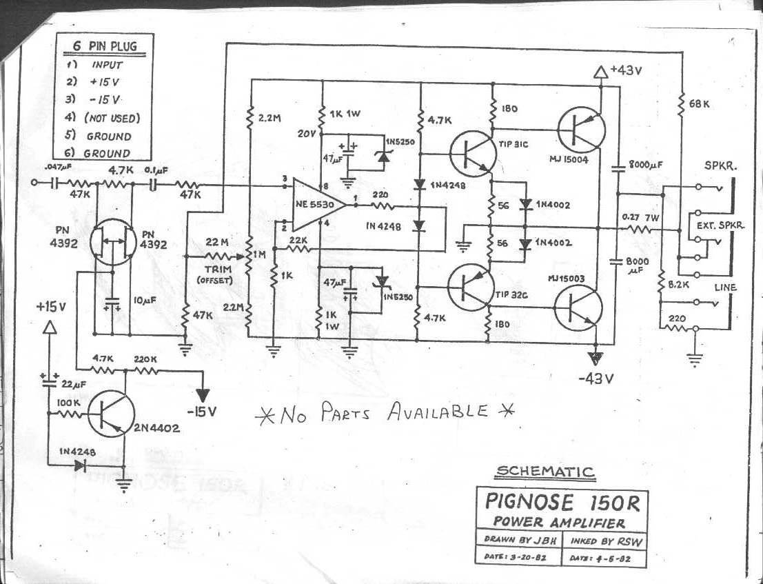 Pignose Amp Wiring Diagram The Unique Guitar Blog The