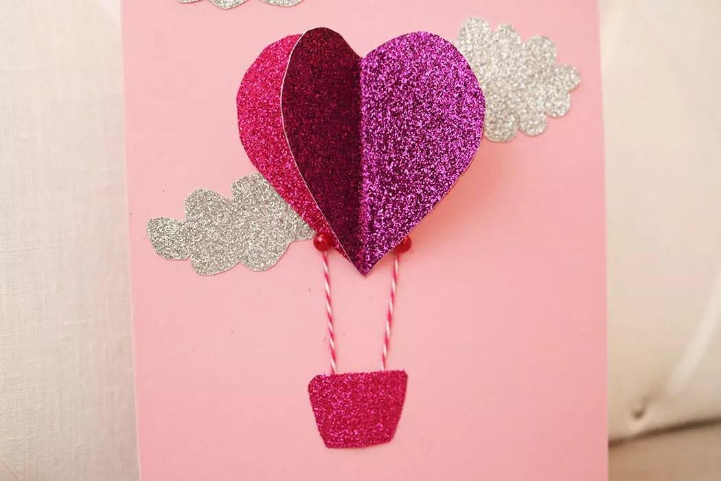 Hjärtkort: En luftballong