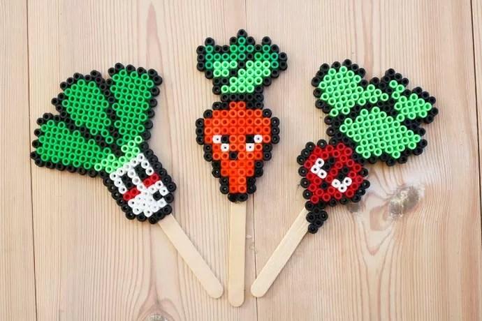 pärlplattor grönsaker