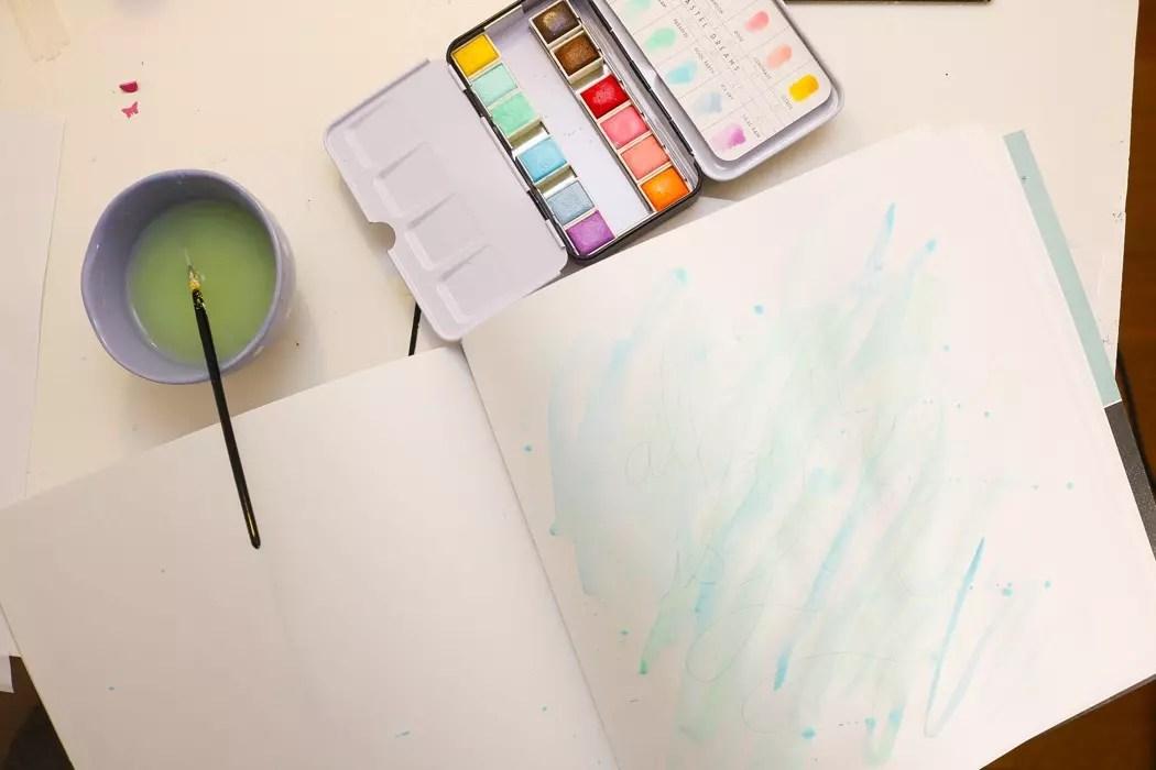 Måla akvarell