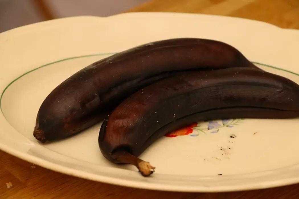 Grillad banan