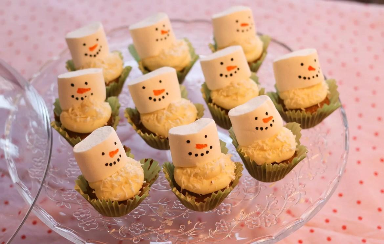 Snögubbecupcakes