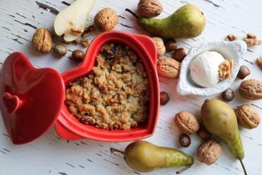 Päronpaj med nötter
