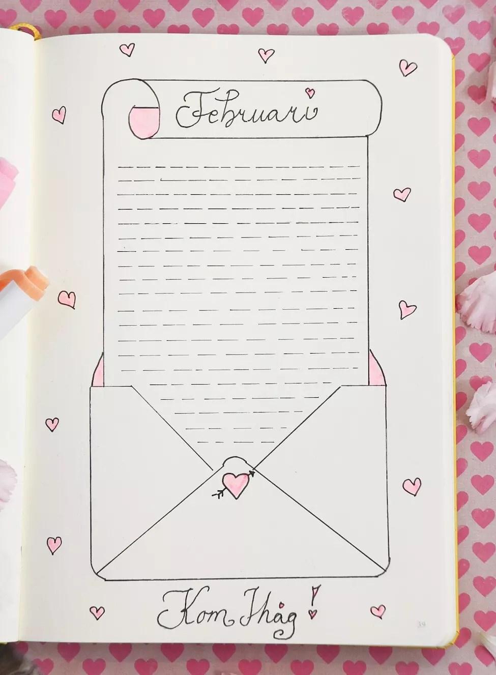 Februari - bullet journal