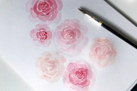 Måla rosor