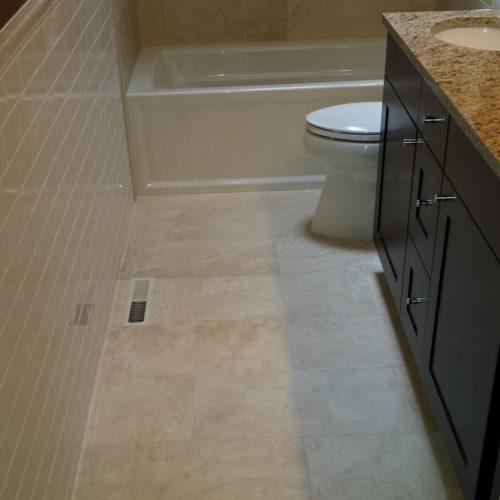 bathroom floor tile layout in 5 easy