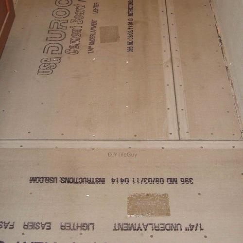 cement board installation on floors