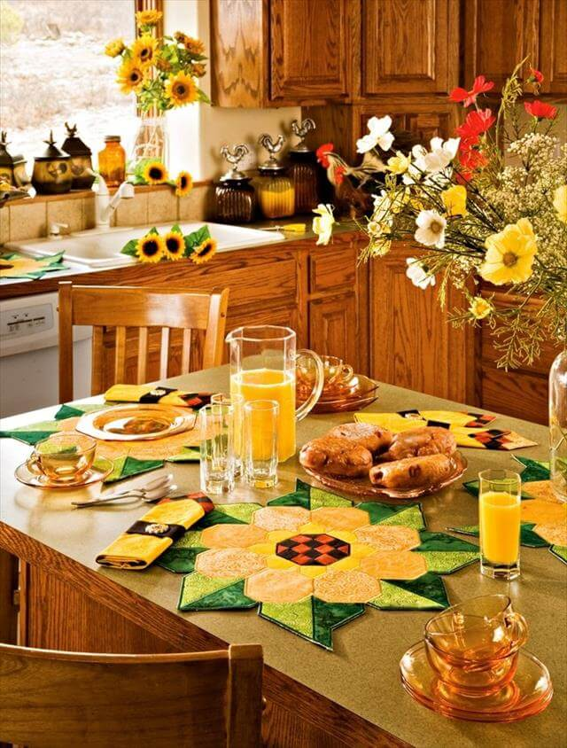 Diy Sunflower Kitchen Decor Ideas Make