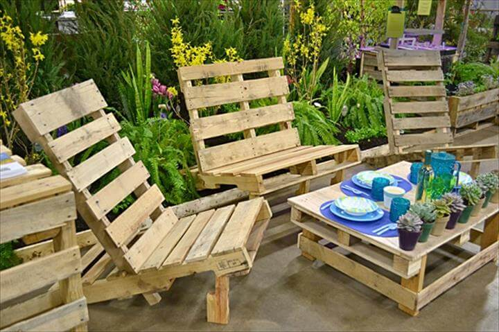 22 cheap easy pallet outdoor furniture