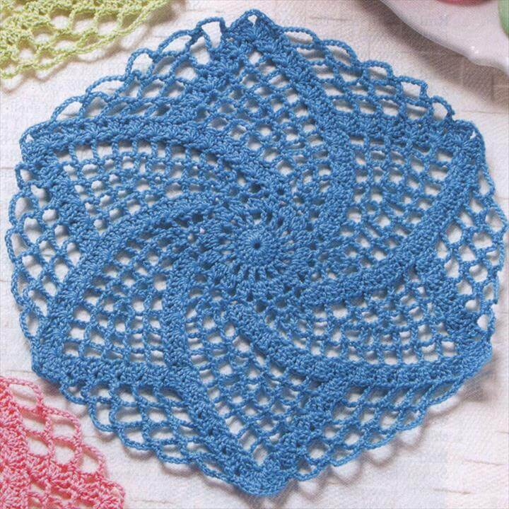 Easy Flower Crochet Coaster Pattern