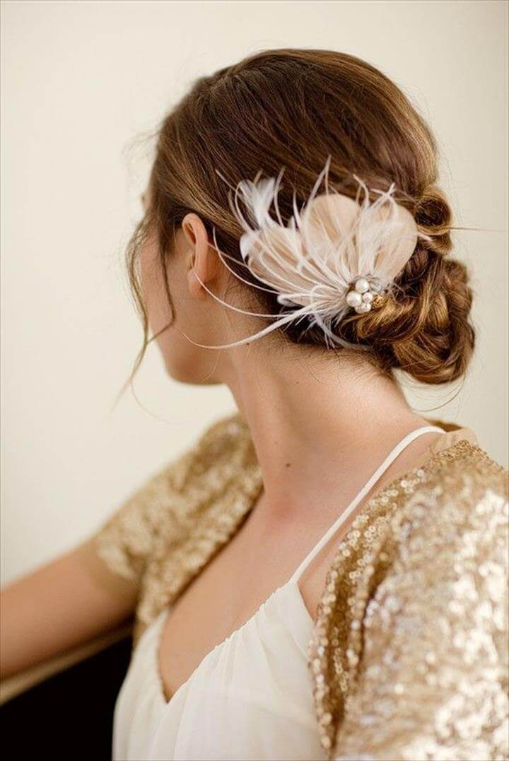 14 DIY Feather Hair Accessories Suggestions DIY To Make