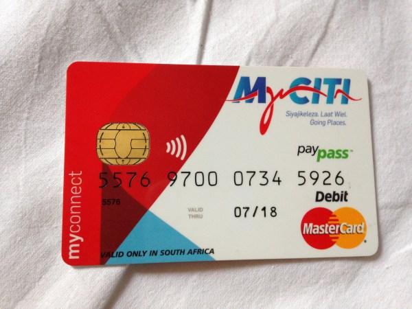 MyCiti Cape Town Prepaid Card