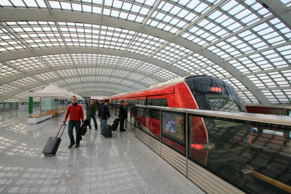 The Beijing Airport Express Metro build by Bombardier