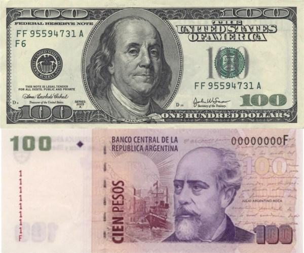 US Dollars vs. Argentine Peso
