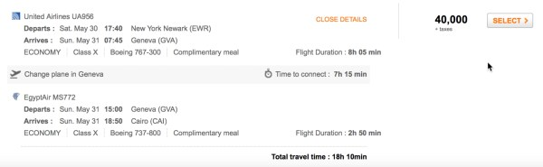 New York to Cairo Flights via United and Egypt Air