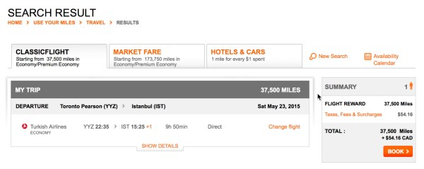 Turkish Airlines Surcharge from Toronto to Istanbul