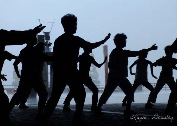 Tai Chi Class on Tsim Sha Tsui Promenade (Credit: Laura Beasley)