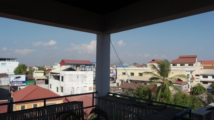 Roof top patio with panorama view of Siem Reap