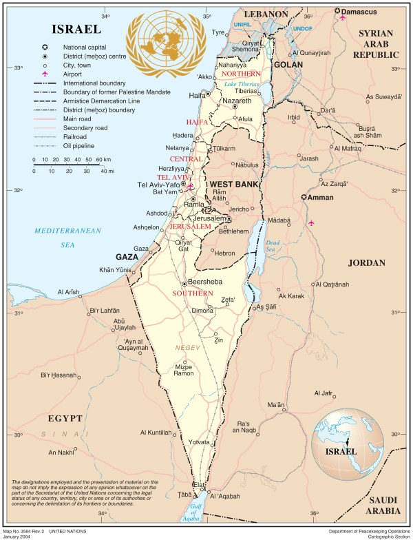 Official Map of Israel