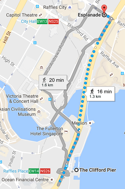 Directions to the Theatres on the Bay via Esplanade Drive