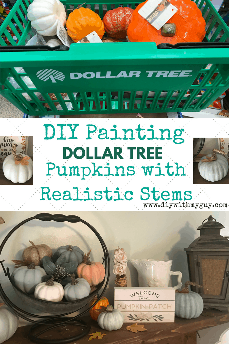 Painting pumpkins realistic stems