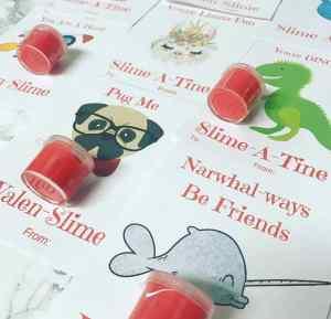 Free Valentine Card Valen-Slime Printables