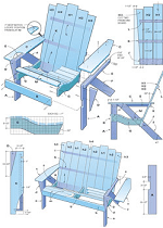 how to make an adirondack chair and loveseat