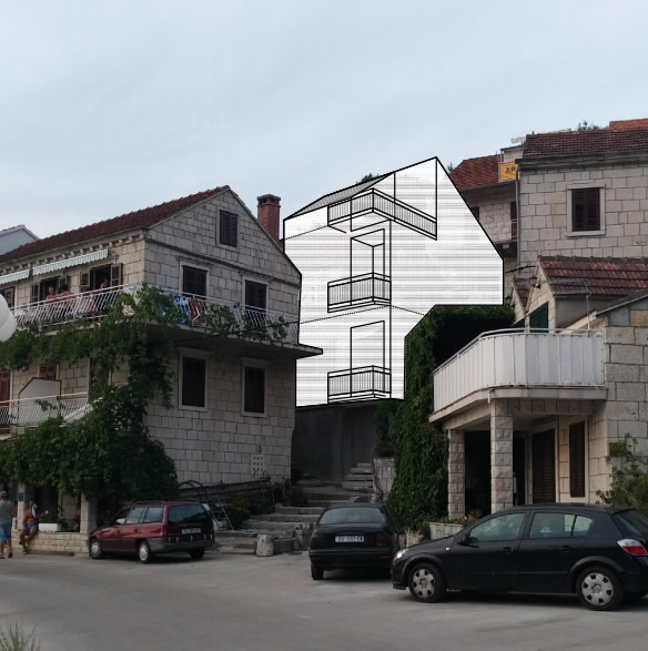 Rekonstrukcija stare kamene kuće , Račišće, Korčula