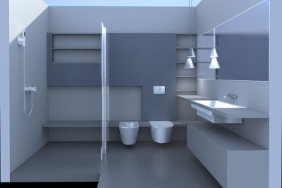 Project for a bathroom