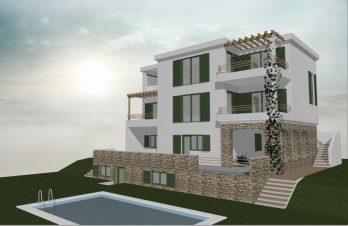 Projekt kuće s bazenom