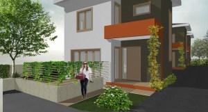Projekt kuća u nizu Malešnica