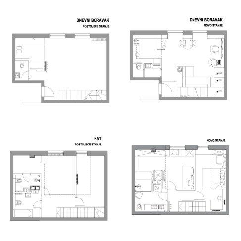 Uređenje stana prije i poslije