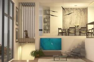 Apartment on three levels